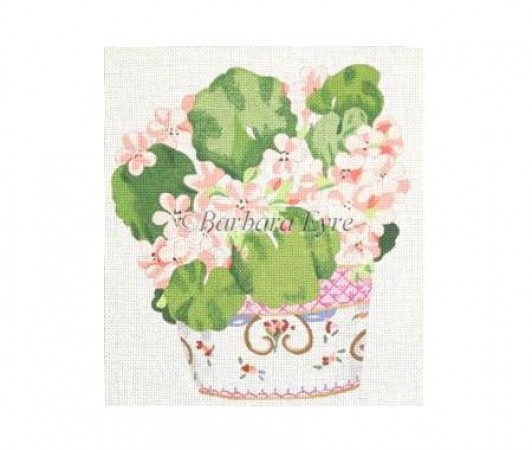 click here to view larger image of Geranium In Loestoff (hand painted canvases)