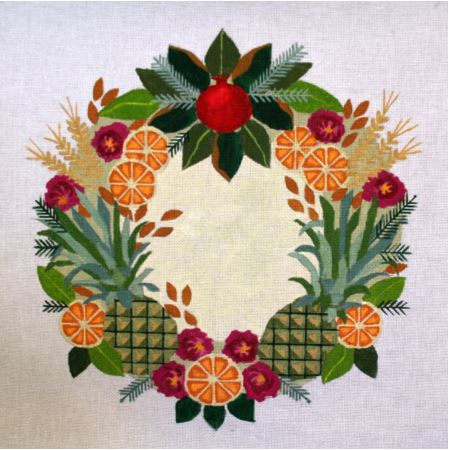 click here to view larger image of Colonial Williamsburg Wreath (hand painted canvases)