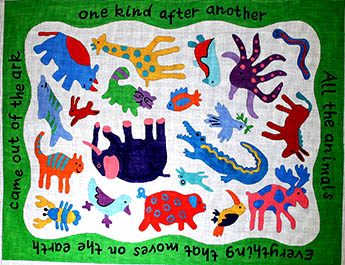 click here to view larger image of All Gods Creatures (hand painted canvases)