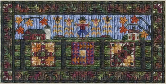 click here to view larger image of Airing the Autumn Quilts (counted canvas work)