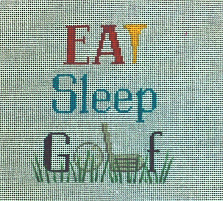 click here to view larger image of Eat Sleep Golf (hand painted canvases)