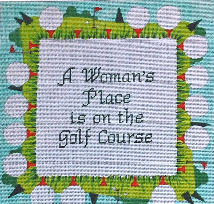 click here to view larger image of A Womans Place (hand painted canvases)