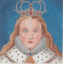 click here to view larger image of Elizabeth (hand painted canvases)