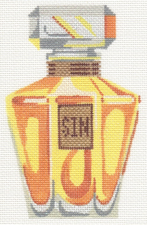 click here to view larger image of Sin Perfume Bottle (hand painted canvases)
