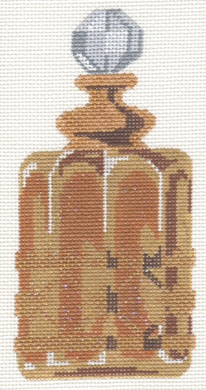 click here to view larger image of Gold Perfume Bottle (hand painted canvases)