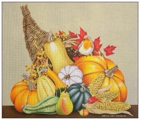 click here to view larger image of Cornucopia (hand painted canvases)