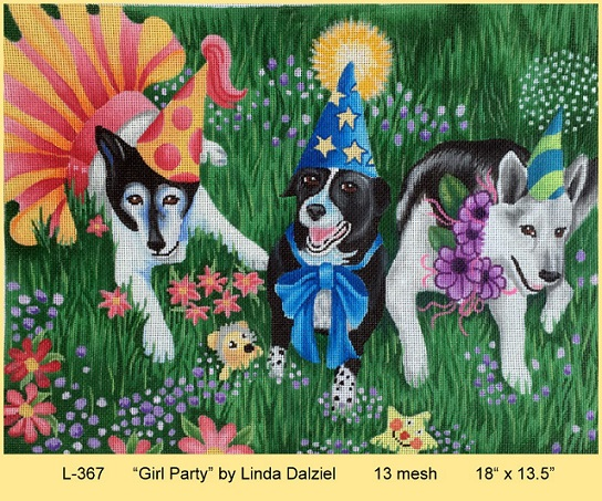 click here to view larger image of Girl Party (hand painted canvases)