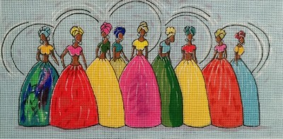 click here to view larger image of Island Belles (hand painted canvases)