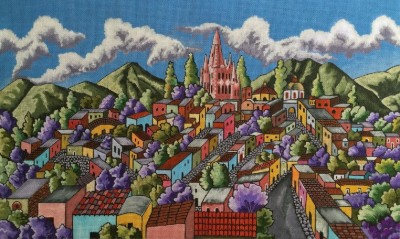 click here to view larger image of Mi Pueblo (hand painted canvases)