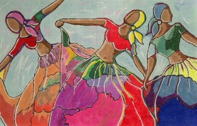 click here to view larger image of Three Dancers (hand painted canvases)