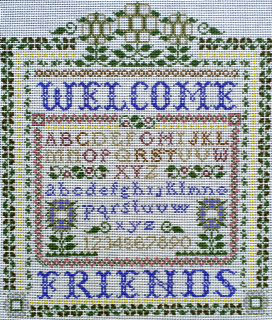 click here to view larger image of Victorian Welcome (hand painted canvases)