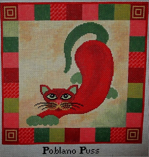 click here to view larger image of Poblano Puss - 18ct (hand painted canvases)