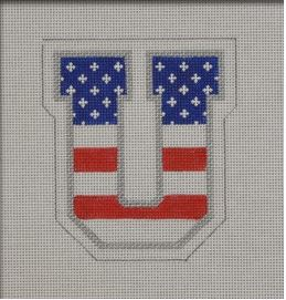 Patriotic U hand painted canvases