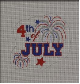 click here to view larger image of 4th Of July (hand painted canvases)