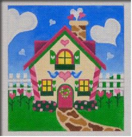 click here to view larger image of Valentines Holiday House (hand painted canvases)