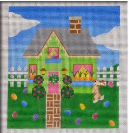 click here to view larger image of Easter Holiday House (hand painted canvases)