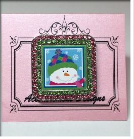 click here to view larger image of Patches Crystal Framed Magnet (accessories)