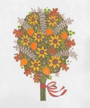 click here to view larger image of Autumn Bouquet (hand painted canvases)