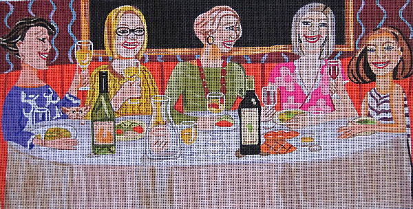 click here to view larger image of Dinner Group (hand painted canvases)