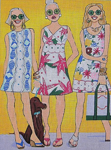 click here to view larger image of Sunny Girls (hand painted canvases)