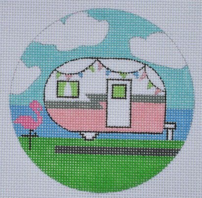 click here to view larger image of Campervan Round (hand painted canvases)