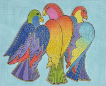 click here to view larger image of Balinese Birds (hand painted canvases)