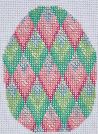 click here to view larger image of Bargello Egg (hand painted canvases)