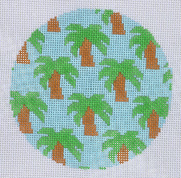 click here to view larger image of Palm Trees Ornament (hand painted canvases)