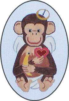 click here to view larger image of February - A Year Of Chimpanzees (hand painted canvases)