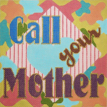 click here to view larger image of Call Your Mother - Pastels (hand painted canvases)