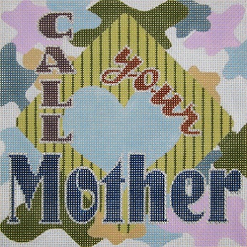 click here to view larger image of Call Your Mother - Blues (hand painted canvases)