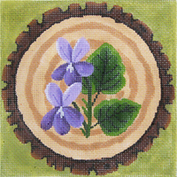 click here to view larger image of Forest Flowers - Violet - 18ct (hand painted canvases)