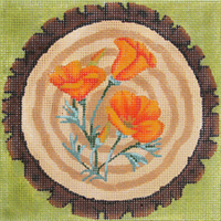 click here to view larger image of Forest Flowers - California Poppy - 13ct (hand painted canvases)