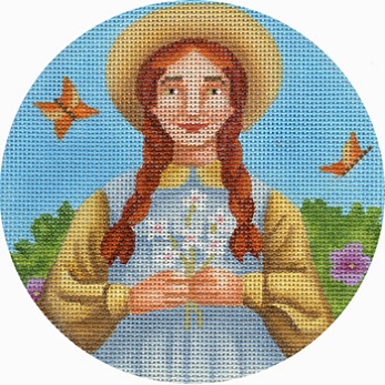 click here to view larger image of Anne Shirley Round (hand painted canvases)