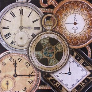 click here to view larger image of Gold Pocketwatch Collage (hand painted canvases)