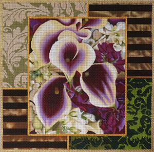 click here to view larger image of Calla Lily Collage (hand painted canvases)