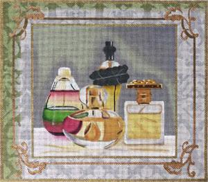 click here to view larger image of Perfume Bottles 1 (hand painted canvases)