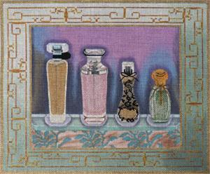 click here to view larger image of Perfume Bottles 3 (hand painted canvases)