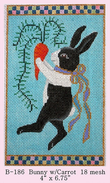 click here to view larger image of Bunny With Carrot (hand painted canvases)