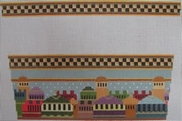 click here to view larger image of Old Jerusalem Stocking Cuff (hand painted canvases)
