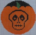 click here to view larger image of Ghoulish Pumpkinface (hand painted canvases)