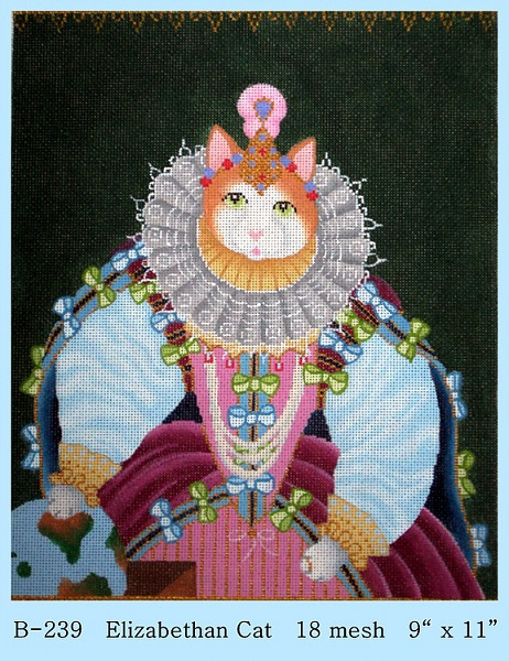 click here to view larger image of Elizabethan Cat (hand painted canvases)