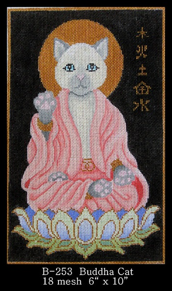 click here to view larger image of Buddha Cat (hand painted canvases)