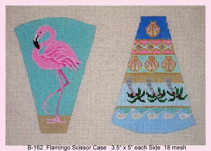 click here to view larger image of Flamingo Scissor Case (hand painted canvases)
