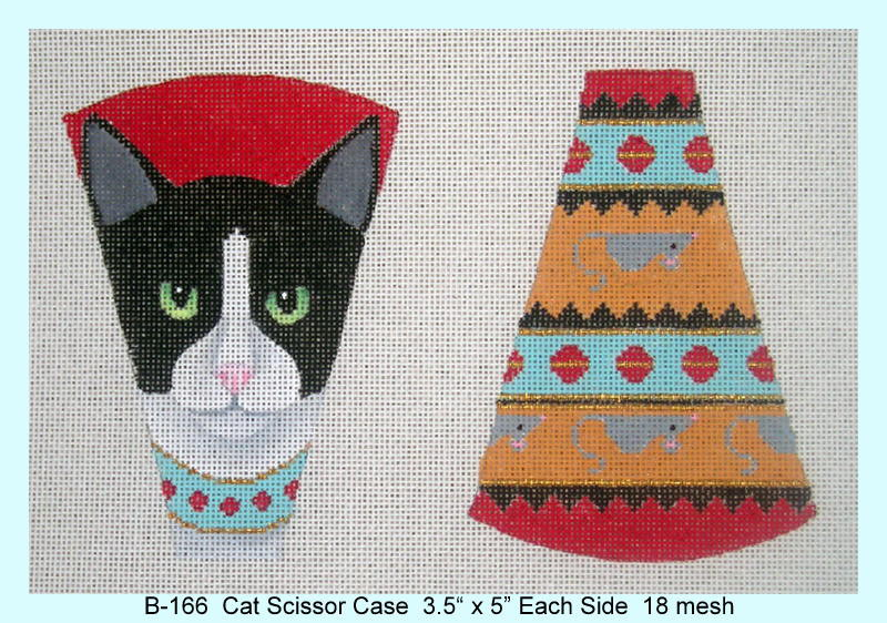 click here to view larger image of Cat Scissor Case (hand painted canvases)