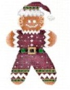 click here to view larger image of Gingerbread Santa (hand painted canvases)