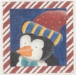 click here to view larger image of Candy Cane Penguin (hand painted canvases)