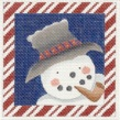 click here to view larger image of Candy Cane Snowman (hand painted canvases)