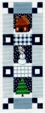 click here to view larger image of Blue Winter Sampler (hand painted canvases)