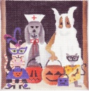 click here to view larger image of Howloween (hand painted canvases)